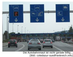 Preis Kosten Autobahn Südfrankreich