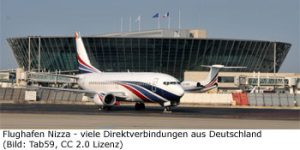 Fluggesellschaft Airline Nizza Direktflug NCE Airport
