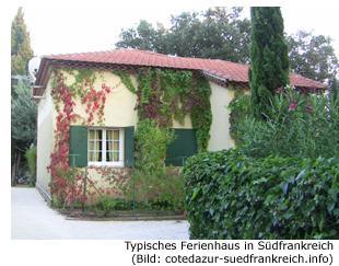 Ferienhaus Ferienwohnung Apartment Südfrankreich Cote d'Azur