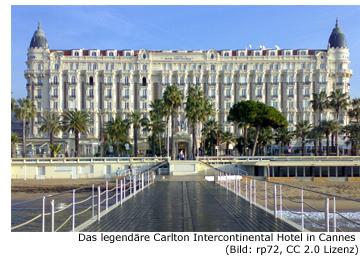 legendär Hotel Filmstar Carlton