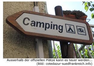 Wildes Camping Strafen Bußgeld